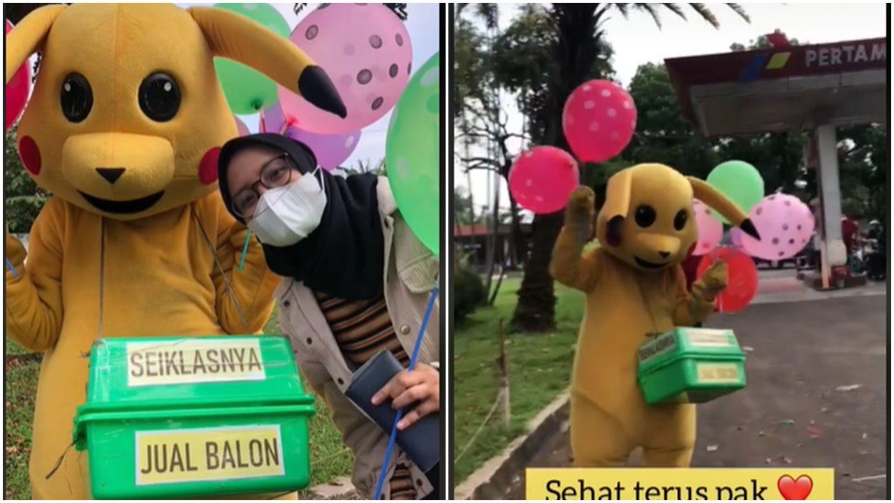 Kisah Haru Penjual Balon Yang Minta Dibayar Seikhlasnya Saja