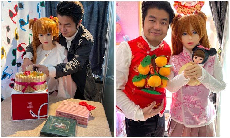 Xie Tianrong yang memacari boneka silikon