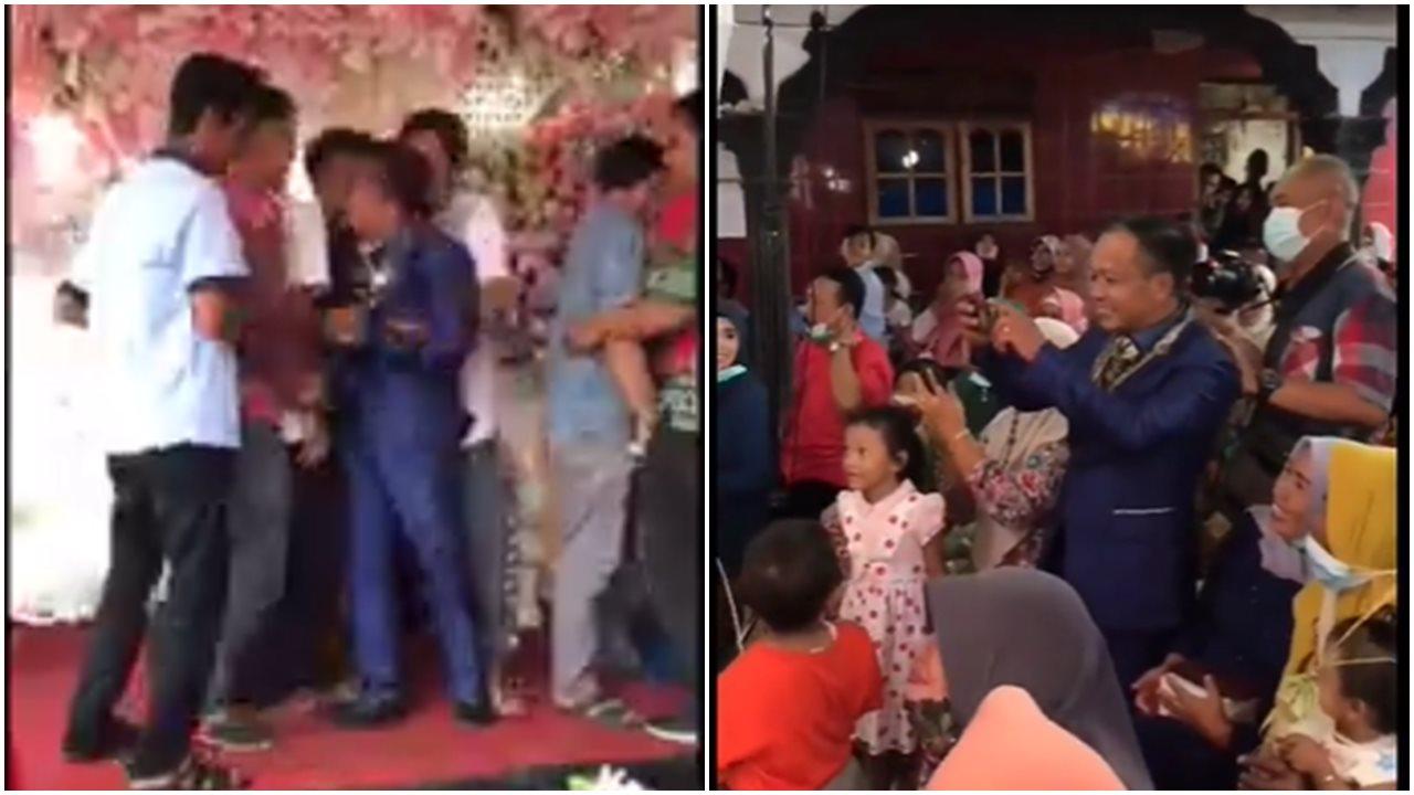 Momen Lucu Ketika Pengantin Pria Yang Jadi Tukang Foto Di Hari Pernikahannya Sendiri