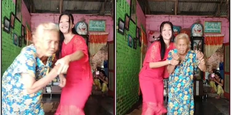 Bikin Geram, Wanita Ini Paksa Neneknya Joget Tiktok