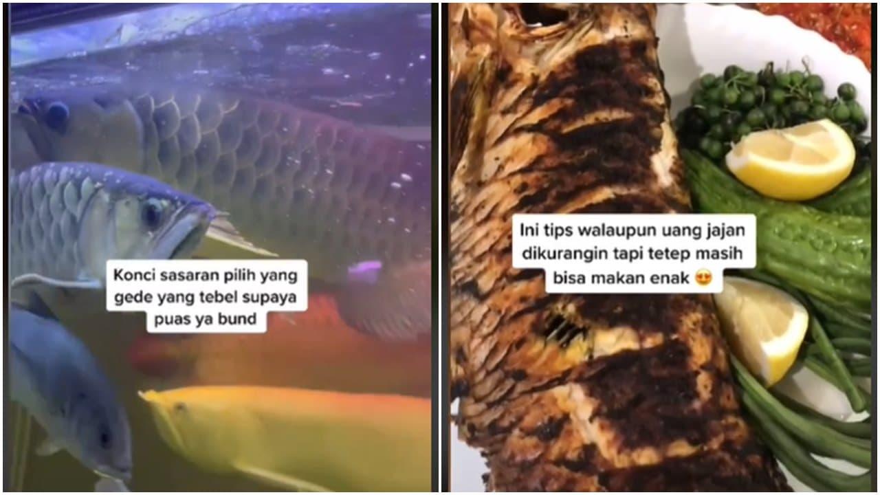 Gokil, Wanita Ini Jadikan Ikan Arwana Peliharaan Jadi Ikan Bakar
