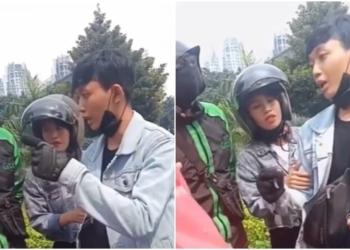 Karena Kecipratan Air, Pemuda Ini Ngamuk Dan Menunjuk Nunjuk Ibu Ojol