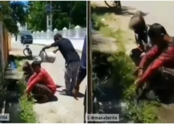 Ketahuan Selingkuh, Pasangan Di Aceh Ini Dimandikan Pakai Air Got
