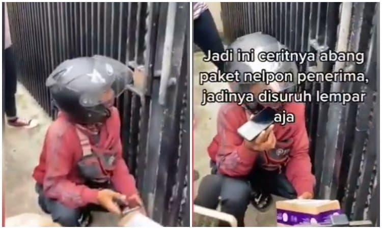 Kurir Pengantar Paket Bingung Dikerubungi Wartawan
