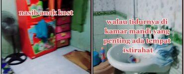 Viral Tempat Kos Hanya Punya Satu Ruangan, Tempat Tidur Gabung Dengan Kamar Mandi