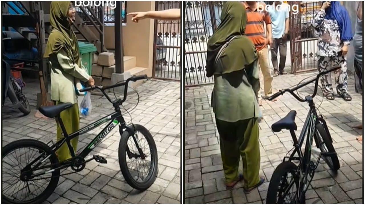 Viral Video Nenek Nenek Ketahuan Mencuri Sepeda, Netizen Justru Merasa Kasihan