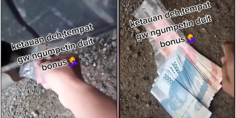 Viral Video Istri Yang Temukan Tempat Suminya Menyimpan Uang Bonus, Ngakak