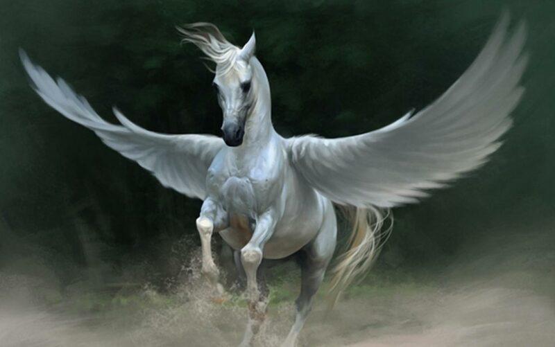 Ilustrasi Kuda Sembrani makhluk mitologi indonesia