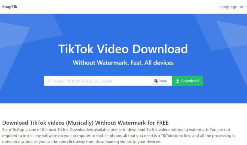 download video tiktok tanpa watermark Snaptik